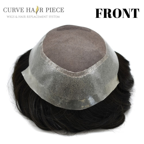 Curve Hairpiece Best Non Surgical Hair Replacement Mono Hair System Mens Human Hair Pieces Near Me Male Toupee Durable Hair Systems  TS1