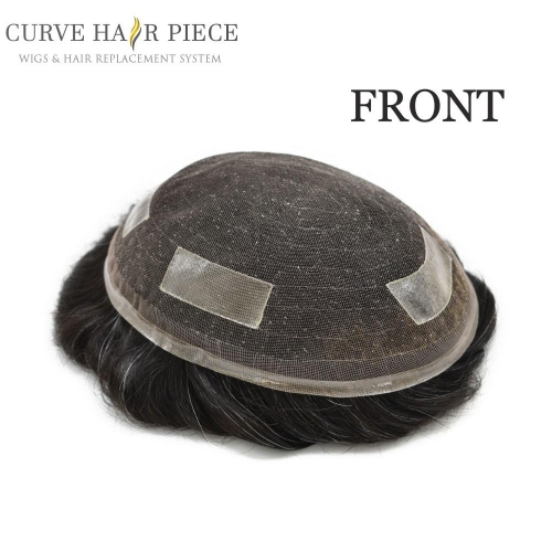 Curve Hairpiece French Lace Mens Toupee Durable Hairpiece Human Hair Natural Hairline Hair Replacement for Men Base2