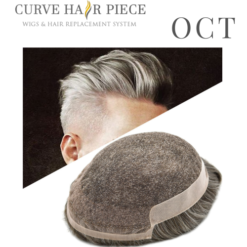 Curve Hairpiece French Lace Mens Hair Piece Poly Coating Mens Toupee Near Me Male Hair Unit Non Surgical Hair Transplant Hair Unit for Sale OCT
