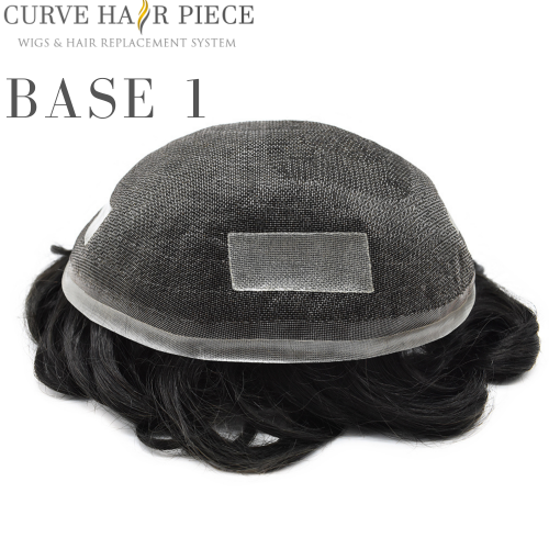 Curve Hairpiece Fine Mono Men's Toupee Durable Hairpiece 100% human Hair Naturalline Hair Replacement for men BASE 1