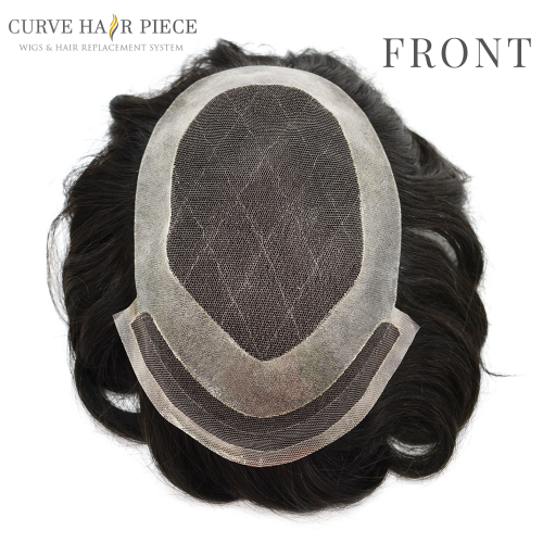 Curve Hairpiece Best Men's Hair Replacement Mens Hair Toupee Hair Replacement System Men's  Best Non Surgical Hair Replacement F4-1.