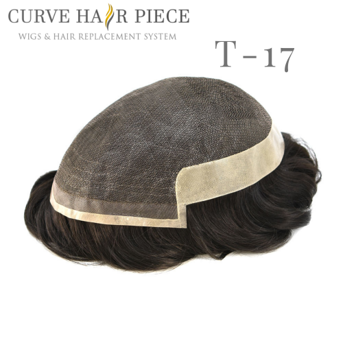 Curve Hairpiece Fine Mono Hair System Mens Hair Toupee Hair Replacement System Men's  Best Non-Surgical Hair Replacement T-17